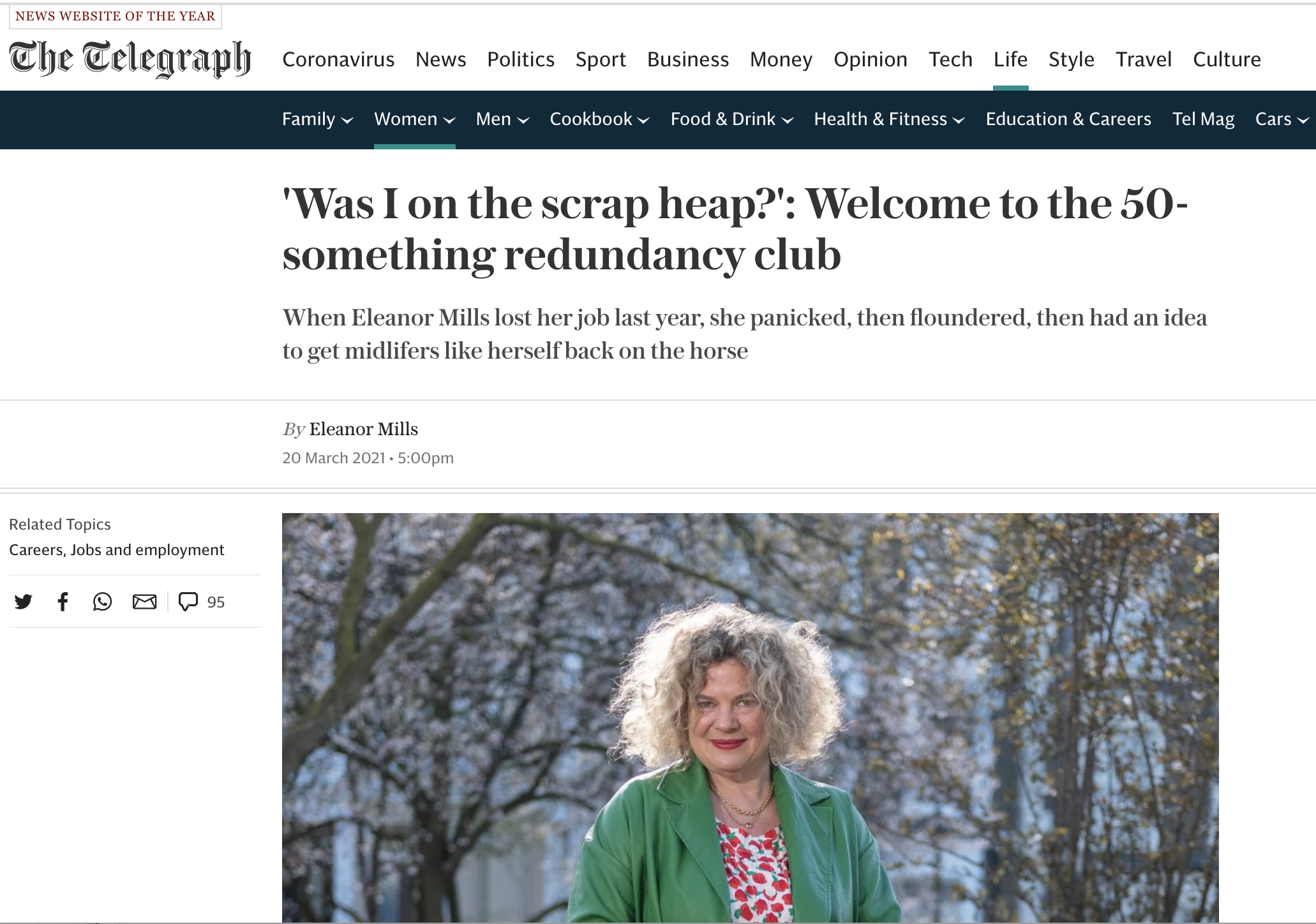 Eleanor Mills talks about the Noon launch in The Telegraph