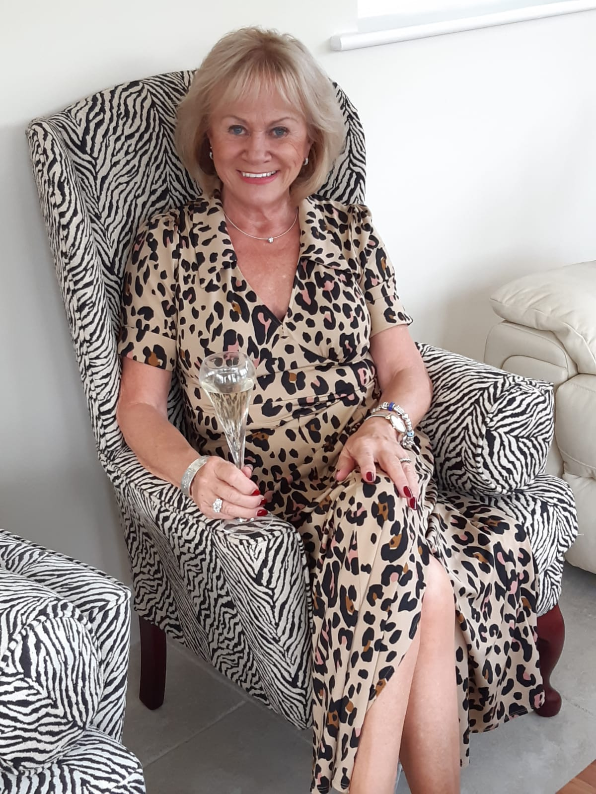 Stacey Duguid's mother in leopard print