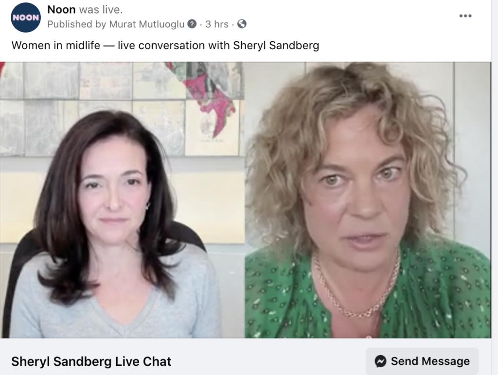 Sheryl Sandberg talks to Eleanor Mills on Noon