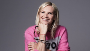 Jo Whiley portrait by Amelia Troubridge for Vision Express